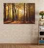 Cotton Canvas 72 x 0.4 x 48 Inch Sunny Forest Trees Painting Unframed Digital Art Print by 999Store
