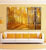 999Store Vinyl 72 x 0.4 x 48 Inch Vivid Colours of Autumn Birch Forest Painting Unframed Digital Art Print