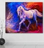 Cotton Canvas 72 x 0.4 x 60 Inch of A Brown Horse Painting Unframed Digital Art Print by 999Store