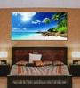 Vinyl 96 x 0.4 x 48 Inch Sea Beach Painting Unframed Digital Art Print by 999Store