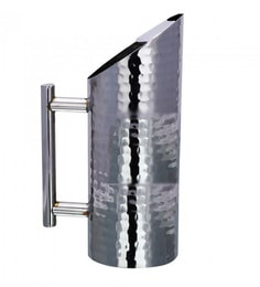 A-Plus Stainless Steel Jug Hammered Pitcher With Ice Guard