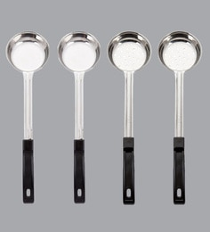 A-Plus Stainless Steel Solid & Perforated Measuring Ladles - Set Of 4 - 1681003