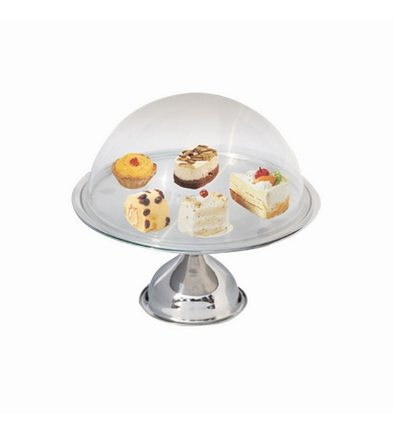 A-Plus Stainless Steel Cakes & Dessert Stand with Glass Lid