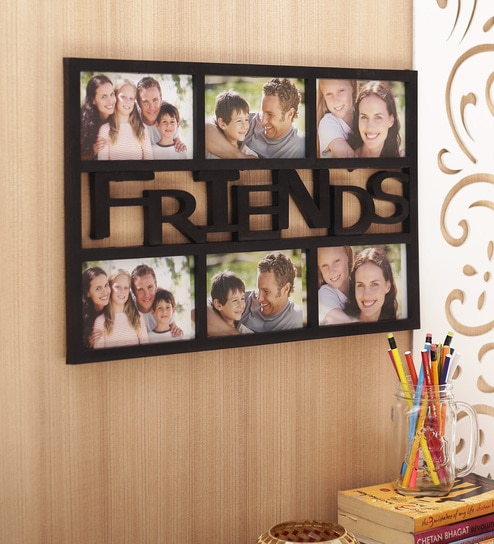 aapno rajasthan black acrylic beautiful collage photo frame for friends