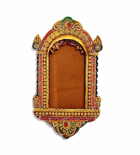 Buy Aapno Rajasthan Multicolour Wooden 8 X 13 Inch Palace Window