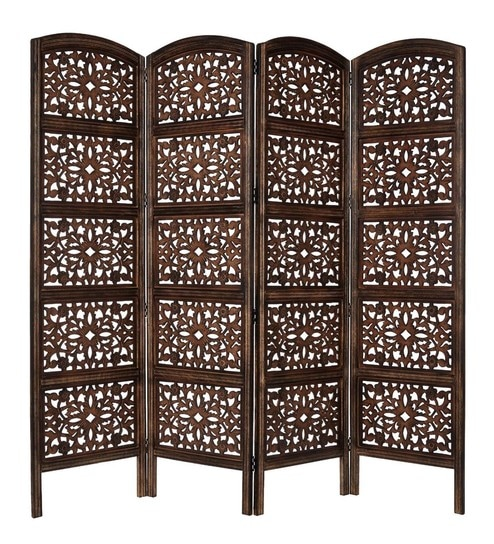 Screens and dividers Starting Rs.2,869 By Pepperfry | Aarsun Woods Brown MDF & Mango Wood Partition Screen @ Rs.7,249