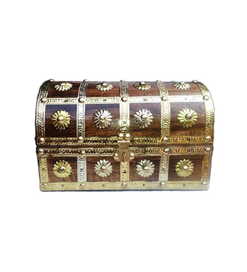 Durable Wooden Multicolour Jewellery Box by Aarsun Woods