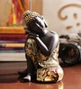 Black & Gold Resin Amazing Buddha Showpiece by Aapno Rajasthan