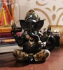 Black Resin Marvellous Textured Ganesha Showpiece by Aapno Rajasthan