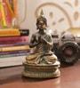 Aapno Rajasthan Brown & Gold Resin Beautiful Buddha Showpiece