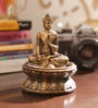 Aapno Rajasthan Brown & Gold Resin Lovely Buddha Showpiece