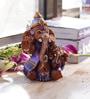 Aapno Rajasthan Brown & Purple Terracotta Ganesh Holding Baby Ganesh