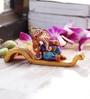 Aapno Rajasthan Brown & Purple Terracotta Sofa Ganesh