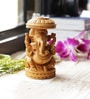 Aapno Rajasthan Brown Wooden Pleasingly Carved Ganesh