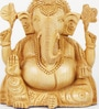 Aapno Rajasthan Brown Wooden Skilfully Carved Ganesh