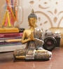 Gold Resin Joint Hands Buddha Showpiece by Aapno Rajasthan