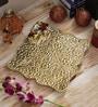 Golden Metal Plated Pooja Thali by Aapno Rajasthan