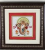Multicolour Marble Lord Ganesh Hanging by Aapno Rajasthan