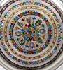 Aapno Rajasthan Multicolour Metal Pooja Thali