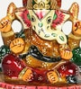 Aapno Rajasthan Multicolour Metal Sankatahara Ganapati - Set of 2