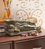 Aapno Rajasthan Multicolour Resin Beautiful & Artistic Sleeping Buddha Showpiece