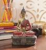 Aapno Rajasthan Multicolour Resin Sitting Buddha Showpiece