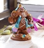Aapno Rajasthan Multicolour Terracotta Ganesh Holding Baby Ganesh Showpiece