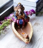 Aapno Rajasthan Multicolour Terracotta Ganesh in Boat Showpiece