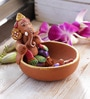 Aapno Rajasthan Multicolour Terracotta Ganesh Small Boat Showpiece