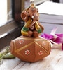 Aapno Rajasthan Multicolour Terracotta Ganesh with Dholak