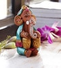 Aapno Rajasthan Multicolour Terracotta Ganesh with Tabla