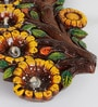 Aapno Rajasthan Multicolour Terracotta Gel Filled Floral Diya Tray