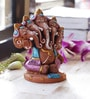 Aapno Rajasthan Multicolour Terracotta Panchmukhi Sitting Ganesh Showpiece