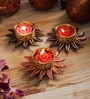 Aapno Rajasthan Multicolour Wax Floral Floating Candles - Set of 3