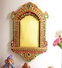 Multicolour Wood & Clay 13 x 1 x 8 Inch Traditional Palace Window Photo Frame by Aapno Rajasthan