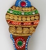 Multicolour Wood & Clay Conch Shell Chopra by Aapno Rajasthan