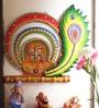 Aapno Rajasthan Multicolour Wood & Clay Swastika & Peacock Feather Key Holder