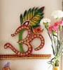Multicolour Wood & Clay The Om Symbol Wall Hanging by Aapno Rajasthan