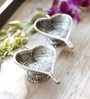 Aapno Rajasthan Oxidized Silver Metal Betel Leaf Shape Diyas - Set of 3