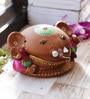 Aapno Rajasthan Pink & Brown Terracotta Cute Ganesh