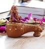Aapno Rajasthan Pink & Brown Terracotta Ganesh with Veena Showpiece