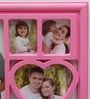 Aapno Rajasthan Pink Acrylic Charming 4 Pictures Collage Photo Frame