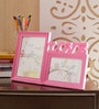 Aapno Rajasthan Pink Acrylic Pinkish Love 2 Pictures Collage Photo Frame