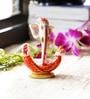 Aapno Rajasthan Red & White Resin Ganesh Idol