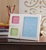 Aapno Rajasthan White Acrylic Stylish 3 Pictures Collage Photo Frame