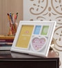 Aapno Rajasthan White Acrylic Sweet 4 Pictures Collage Photo Frame