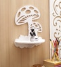 Aapno Rajasthan White MDF Artistic Designed Wall Shelf
