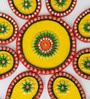 Aapno Rajasthan Yellow & Green Wood & Clay Keri Floor Rangoli