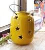 Aapno Rajasthan Yellow Ceramic Hanging Enclosed Tea Light Holder