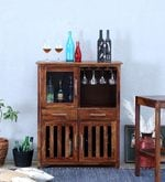 Abbey Bar Cabinet in Provincial Teak Finish